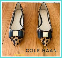 Cole Haan Leopard Patterns Faux Fur Elegant Style Slip-On Shoes