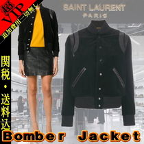 Saint Laurent Casual Style Street Style Plain Medium Varsity Jackets