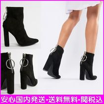 ASOS Casual Style Plain Block Heels Ankle & Booties Boots