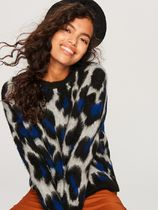 RESERVED Crew Neck Leopard Patterns Casual Style Long Sleeves Medium