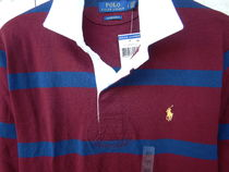 Ralph Lauren Stripes Street Style Long Sleeves Cotton Polos Surf Style