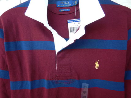 Ralph Lauren Polos Stripes Street Style Long Sleeves Cotton Polos Surf Style 2