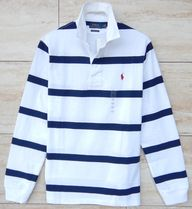 Ralph Lauren Polos Stripes Street Style Long Sleeves Cotton Polos Surf Style 4