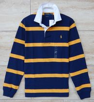 Ralph Lauren Polos Stripes Street Style Long Sleeves Cotton Polos Surf Style 6