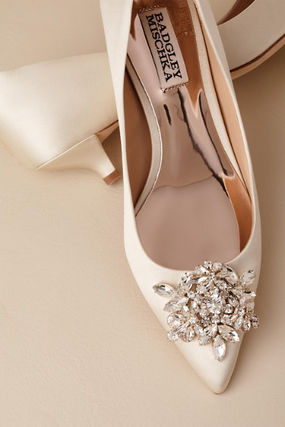 BHLDN Plain Pin Heels Party Style With Jewels Shoes