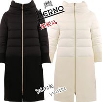 HERNO Wool Plain Long Down Jackets