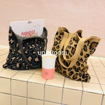 Leopard Patterns Casual Style A4 Totes