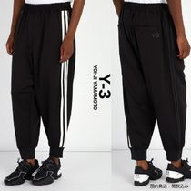 Y-3 Stripes Unisex Street Style Collaboration Oversized