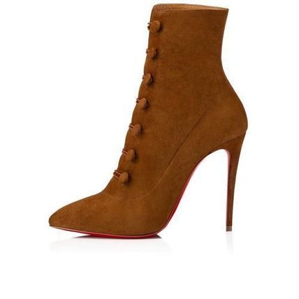 7d294761786c Christian Louboutin Ankle   Booties Suede Plain Pin Heels Elegant Style  Ankle   Booties Boots 6 ...