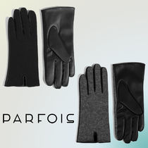 PARFOIS Wool Blended Fabrics Bi-color Elegant Style Gloves Gloves