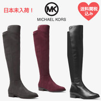 Michael Kors Rubber Sole Casual Style Plain Leather Flat Boots