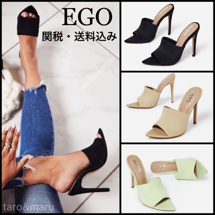 Open Toe Casual Style Plain Pin Heels Heeled Sandals