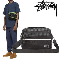 STUSSY Gingham Unisex Nylon Street Style 2WAY Plain Hip Packs
