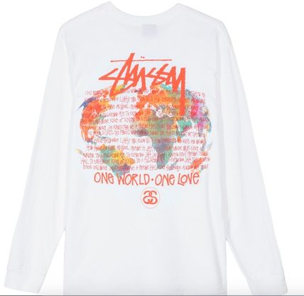 STUSSY Long Sleeve Crew Neck Pullovers Unisex Street Style Tie-dye Long Sleeves 3