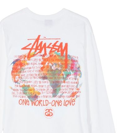 STUSSY Long Sleeve Crew Neck Pullovers Unisex Street Style Tie-dye Long Sleeves 4