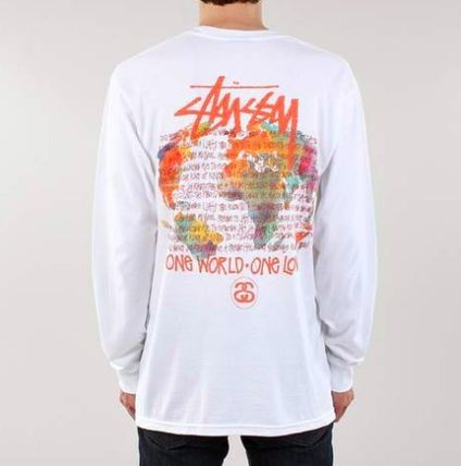 STUSSY Long Sleeve Crew Neck Pullovers Unisex Street Style Tie-dye Long Sleeves 5