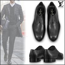 Louis Vuitton EPI Plain Toe Blended Fabrics Plain Leather Oxfords