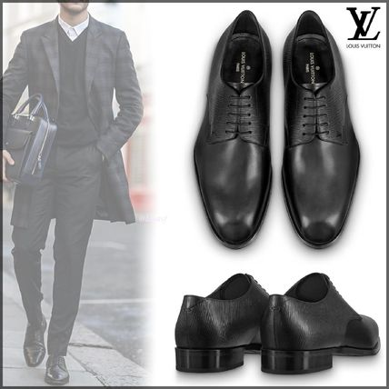 Louis Vuitton Oxfords Plain Toe Blended Fabrics Plain Leather Oxfords
