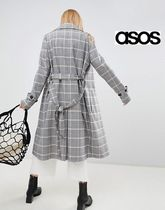 ASOS Other Check Patterns Casual Style Trench Coats