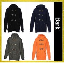 BARK Short Wool Street Style Plain Duffle Coats