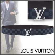 Louis Vuitton DAMIER COBALT Other Check Patterns Blended Fabrics Street Style Bi-color