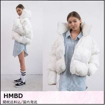 HMBD Short Camouflage Street Style Plain Down Jackets