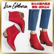 Sam Edelman Rubber Sole Leather Elegant Style Ankle & Booties Boots