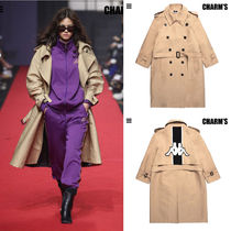 Charm's Unisex Street Style Collaboration Long Oversized