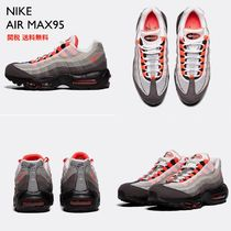 Nike AIR MAX 95 Round Toe Lace-up Plain Low-Top Sneakers