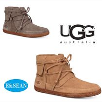 UGG Australia Round Toe Rubber Sole Casual Style Leather
