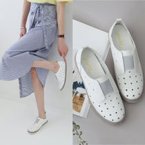 Dots Round Toe Rubber Sole Casual Style Faux Fur