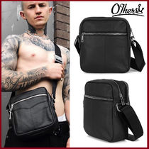 Other UK Street Style Plain Leather Messenger & Shoulder Bags