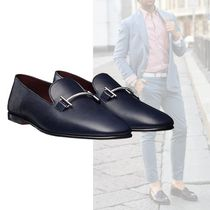 HERMES Plain Toe Loafers Plain Leather Loafers & Slip-ons