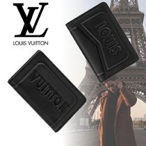 Louis Vuitton Unisex Leather Card Holders