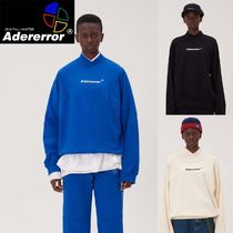 ADERERROR Pullovers Unisex Street Style V-Neck Long Sleeves Cotton