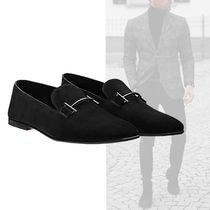 HERMES Plain Toe Loafers Suede Plain Loafers & Slip-ons