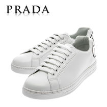 PRADA Plain Leather Sneakers
