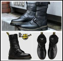 Dr Martens Street Style Leather Mid Heel Boots