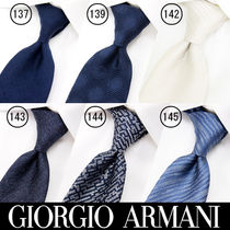 GIORGIO ARMANI Stripes Silk Plain Ties