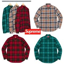 Supreme Tartan Street Style Long Sleeves Shirts