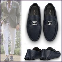Louis Vuitton EPI Plain Toe Moccasin Blended Fabrics Plain Leather