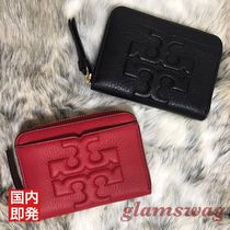 Tory Burch Plain Leather Coin Purses