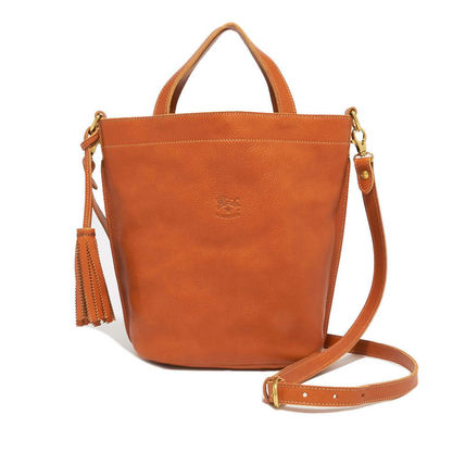 Il Bisonte Handbags Casual Style 2way Plain Leather