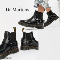 Dr Martens Round Toe Casual Style Blended Fabrics Street Style Plain