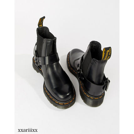 Dr Martens Ankle & Booties Round Toe Casual Style Blended Fabrics Street Style Plain 3