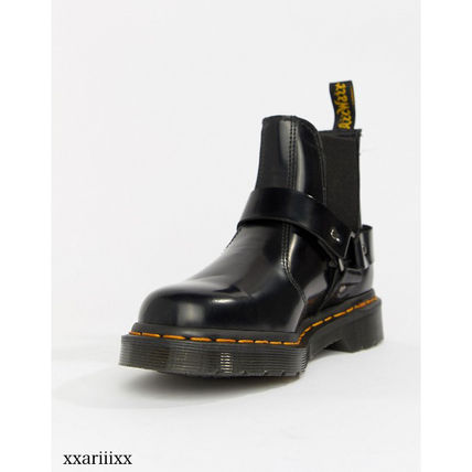 Dr Martens Ankle & Booties Round Toe Casual Style Blended Fabrics Street Style Plain 5