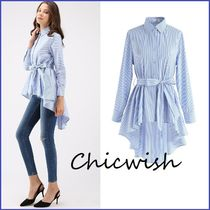 Chicwish Stripes Casual Style Long Sleeves Cotton Long