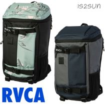 RVCA Flower Patterns Unisex Street Style A4 Bi-color Backpacks