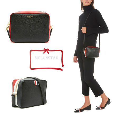 Casual Style Plain Leather Bags