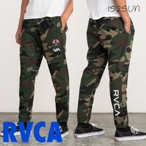 RVCA Camouflage Unisex Street Style Collaboration Pants